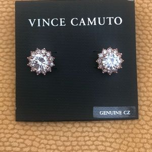 NWT Vince Camuto Cz Rose Gold Earrings